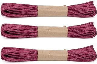 Raffia Stripes Paper String,Twisted Paper Craft String/Cord/Rope for DIY Making Twisted Paper Craft String/Cord/Rope, 2mm Thickness,32 Yards(30M)