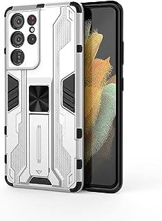 جراب Asus Zenfone 8، جراب واقٍ متين ومتين ومتين ومقاوم للصدمات مع مسند، جراب واقٍ مضاد للصدمات لهاتف Asus Zenfone 8-white