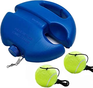 Tennis Trainer Rebound Ball Tennis Trainer Set with 2 Balls with Rope Trainer Baseboard,Self-Study Practice Training Tool ...