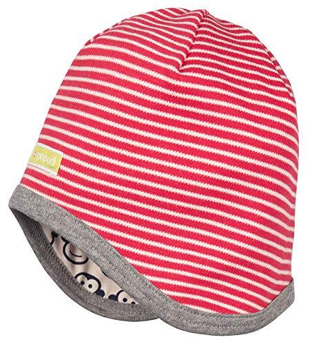 Loud + Proud Wendemütze aus Bio Baumwolle, Gots Zertifiziert Bonnet, Rouge (Tomato to), 47 (Taille Fabricant: 98/104) Mixte bébé