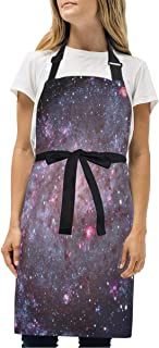 YIXKC Apron Outer Space Adjustable Neck with 2 Pockets Bib Apron for Family/Kitchen/Chef/Unisex