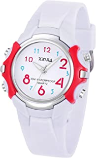 Kids Analog Watch for Girls Boys,Child Waterproof Learning Time Soft Strap Wrist Watch for Child Ages 3-15 as Gift