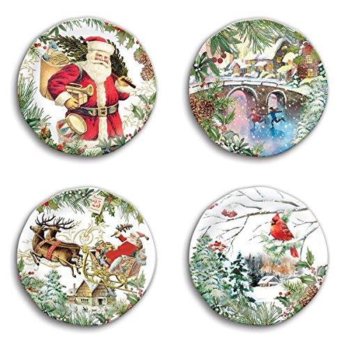 Michel Design Works SWPS274 Melamine Accent Plates, Christmas Joy