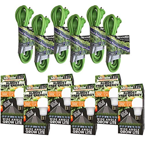 Miracle LED 602563 Full Spectrum LED Grow Single-Socket Corded Lighting System Kit