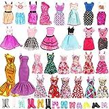 Festfun 23 Pcs Vêtement Accessoire de Poupée 1 Robes de Soirée avec 12 Robes Chics avec 10 Chaussure pour Poupée Fille de 11,5 Pouce