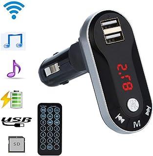 車載 fm Jarshvila BluetoothワイヤレスFMトランスミッターMP3プレーヤーハンズフリーカーキットUSB TF SDリモート