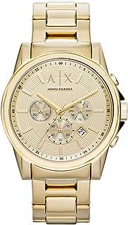 A X Armani Exchange Men's 45mm Goldtone Bracelet Watch