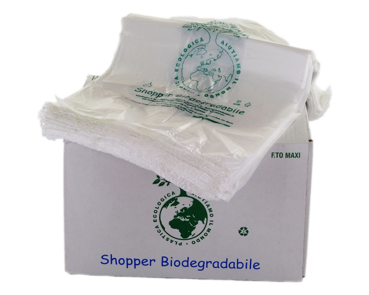 Bolsas biodegradables con asas, compostables, tamaño mini, 23 x 40 ...