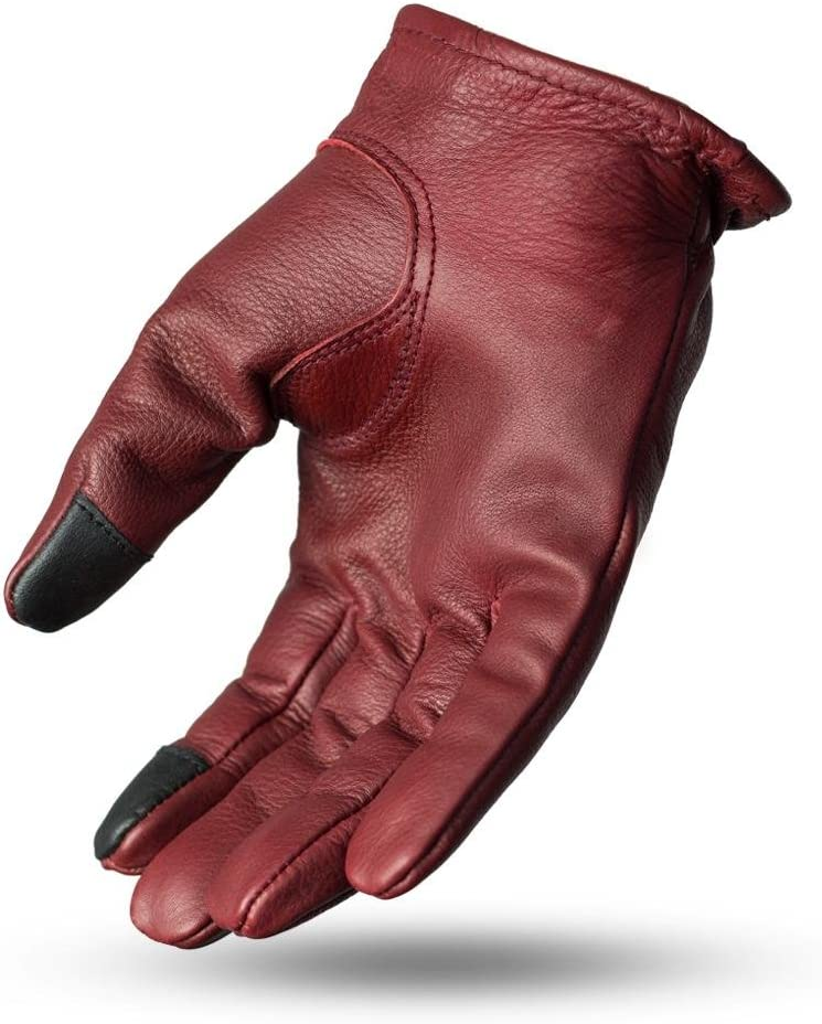 Black, XX-Large First Mfg Co Mens Roper Leather Motorcycle Touch Tech Finger Gloves