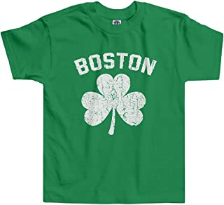 Threadrock Little Boys' Boston Shamrock Irish Pride Toddler T-Shirt