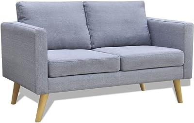 Amazon.com: Domesis Granada Sofa in Purple Linen: Kitchen ...