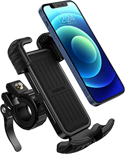 discount UGREEN Bike Phone Mount, One Hand Operation Universal Motorcycle Phone Mount Holder for Motorcycle Bike Handlebars, Compatible with sale iPhone 12 Pro Max, 12 Mini, 12, XS 2021 MAX, 8, Samsung S20 outlet online sale