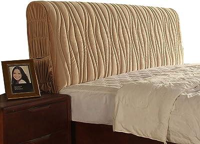Dustproof Bed Head Cover Headboard Covers All-Inclusive Headboard Elastic Lining for Dustproof Bed Headboard Decoration Decoration (Color : Brown, Size : 120cm)