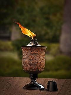 Deco Home Tiki Torch 4 in 1, Mosaic Tulip Jar Garden Torch 64-inch, Deck Torch, Table Torch or...