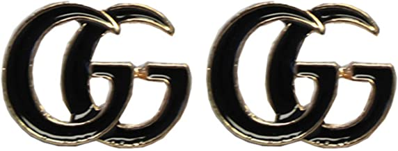 ChiChi Women's Fashion Earrings Stainless Steel Mini Ear Stud Moden Style Letter Shape Inspired