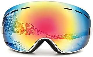 uxcell® Ski Snowmobile Snowboard Goggles Anti-Fog UV400 Protect Unisex Glass White for Women Men