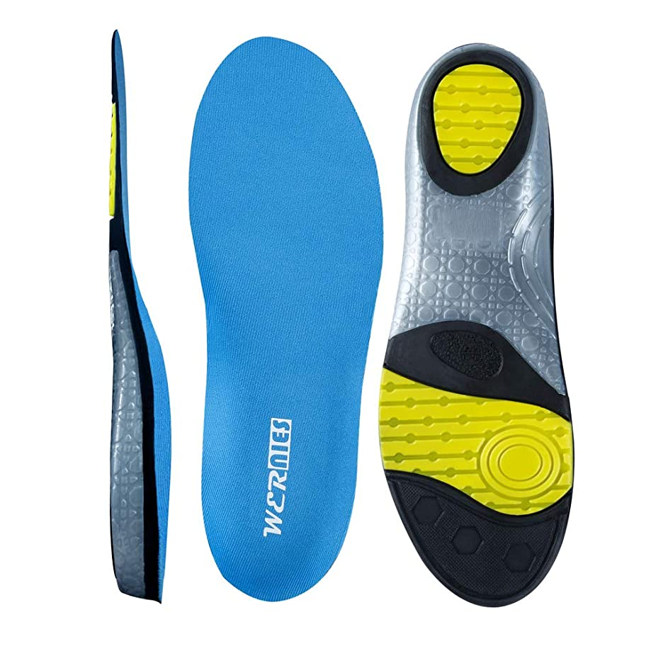 WERNIES Sneaker Inserts Neutral Arch Support Sports Shoe Insole Performance Running Shoe Inserts