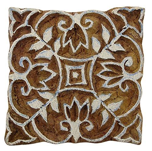 Knitwit Blumenmuster Braun Textile Holzblock Hand Geschnitzte Holz Stempeldruck Blöcke
