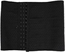 Abaodam Unisex taille trimmer riem fitness riem afslanken riem tailleband- maat L (zwart)