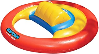 """72"""" Inflatable Red and Yellow Water Sports Floating Abyss Island Slide Swimming Pool Toy"""