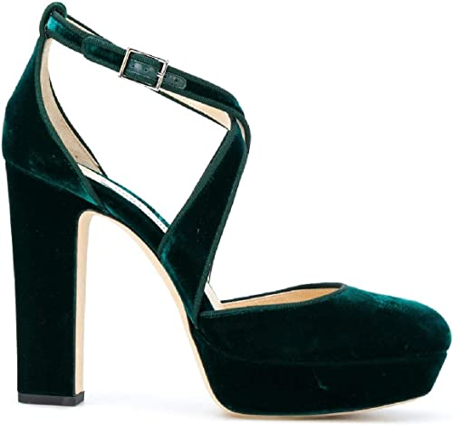 Jimmy Choo Damen APRIL120VVXGrün Grün Samt Sandalen