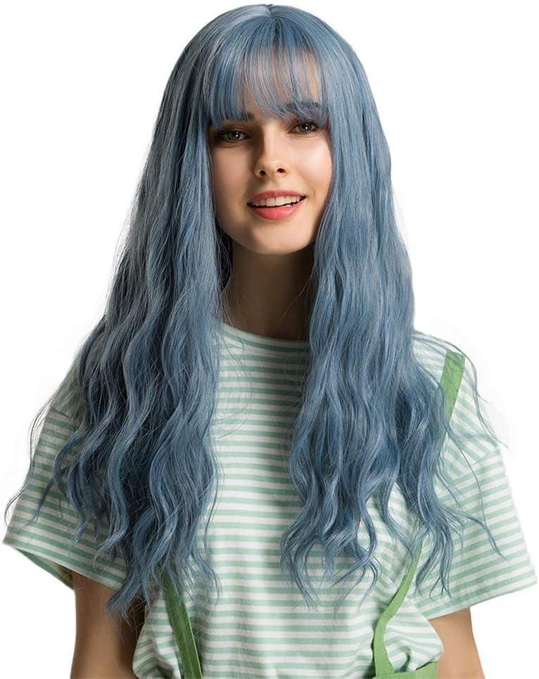JUNJIAGAO-Kitchen Wigs Wavy Natural Curly Gray New Free Shipping Japan Maker New Hair Straigh Blue