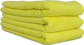 Chemical Guys MIC36503 Workhorse XL Toalha de microfibra amarela de grau profissional, 61 cm x 40 cm, pacote com 3