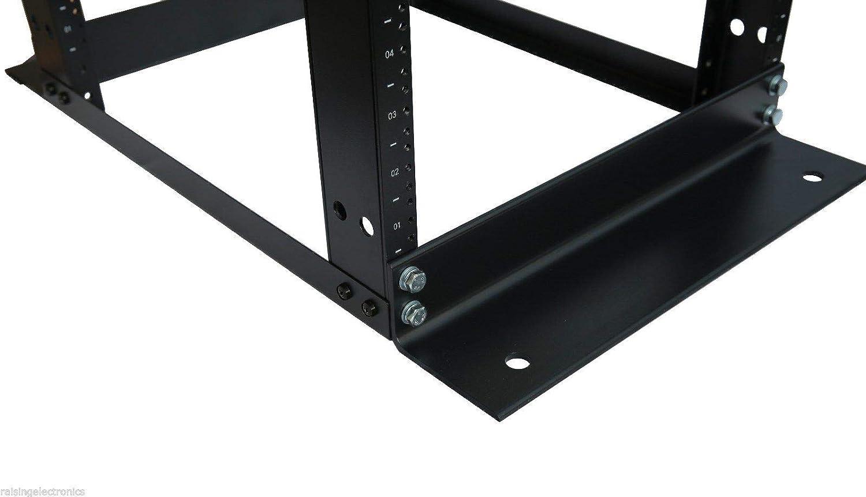 RAISING ELECTRONICS 15U Network Data IT Server Rack Series System 19 Inch Desktop Open Frame Server Desk Rack Free Stand