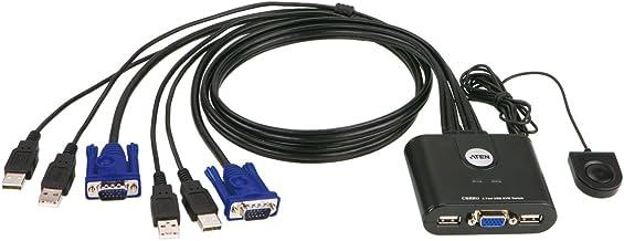 ATEN CS22U - Conmutador KVM de 2 Puertos USB, Negro