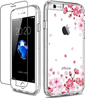 GiiKa iPhone 6 6s Case with Screen Protector, Clear Heavy Duty Protective Case Floral Girls Women Shockproof Hard PC Back ...