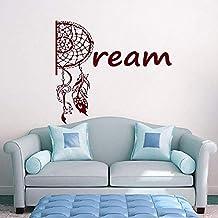KLJLFJK 57x64cm Wall Decal Protection Vinyl Sticker Dream Catcher Nursery Kids Bedroom Baby Room Indian Style Decoration