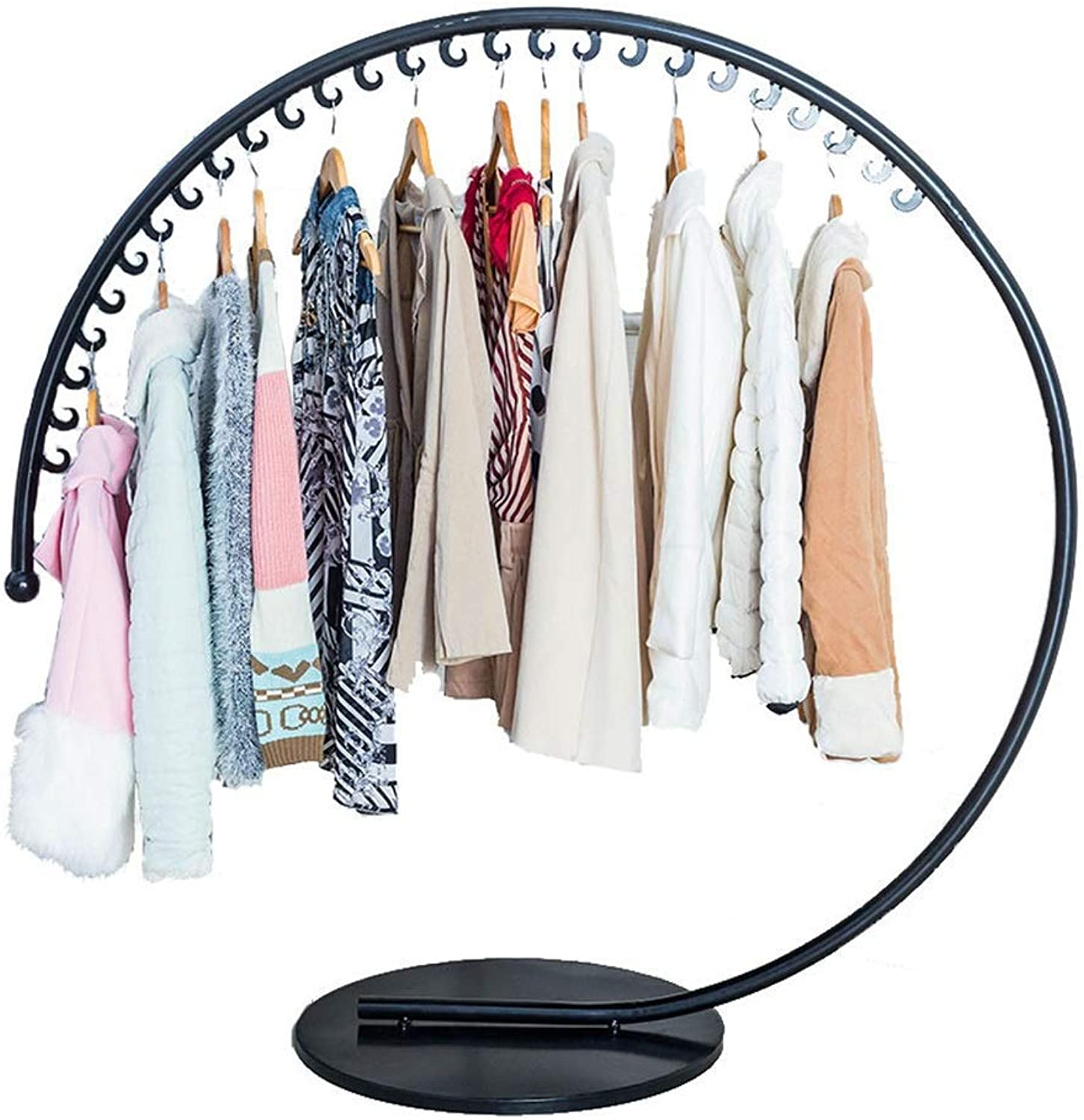 Coat Rack Clothes Floor Strong Load-Bearing Capacity Clothing hat Hanger Store Stable, (3 colors, Size  120x130cm)