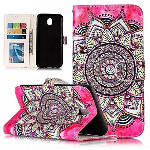iPhone 5/5S/5SE hoesje PU Lederen Flip portemonnee case credit card slot functies magnetische off stent functie 3D patroon patroon ontwerp beschermende DECHYI case, Portemonneehouder, FD12, Samsung Galaxy J7 2017/Pro