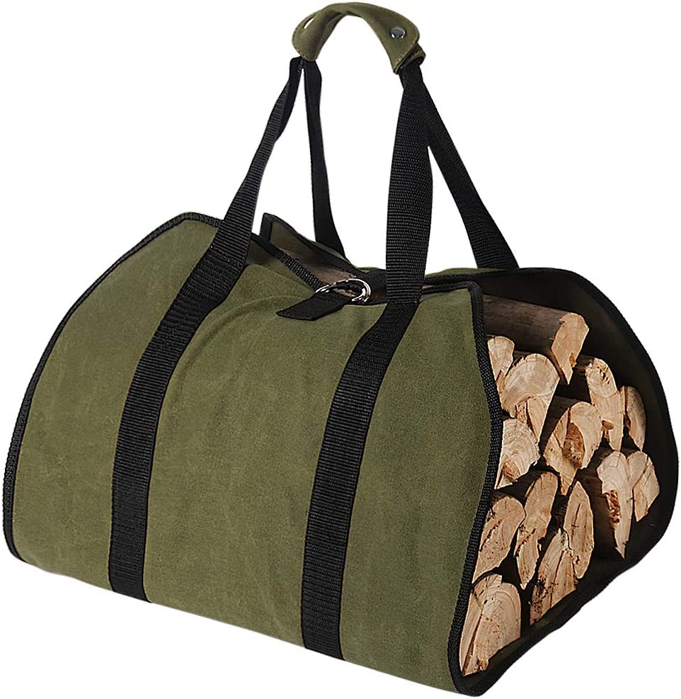 Tenn 25% OFF Well Waxed Canvas Indefinitely Log Carrier 16o 38in 18in x for Firewood