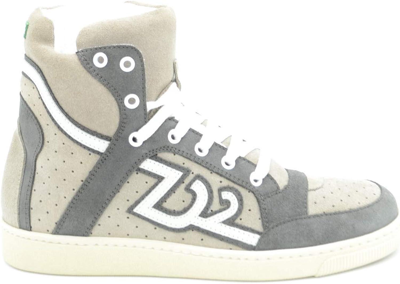 buy online f006c e1c53 DSQUARED2 EZBC008151 Herren Herren Herren Grau Leder Hi top Sneakers  B07PN5CJ6F 33055e