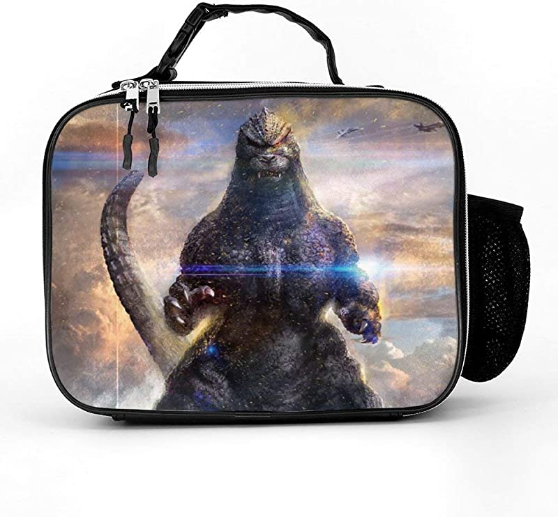 Godzilla Lunch Box With Padded Liner Spacious Insulated Lunch Bag Durable Thermal Lunch Cooler Pack For Boys Men Women Girls Adults