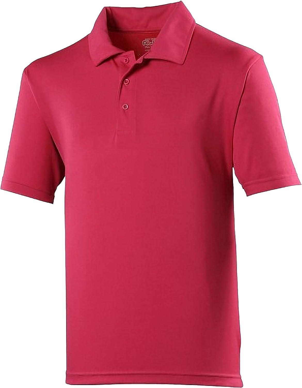 JUST COOL Kids Big Boys Sports Polo Plain Shirt (Pack of 2)