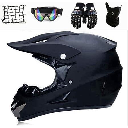 Xiaol Motocross Helm Set Mit Handschuhe Maske Brille Motorrad Crosshelm Adult Motocross Helm Dh Helm Mtb Helm Geeignet Für Alle Jahreszeiten S Auto