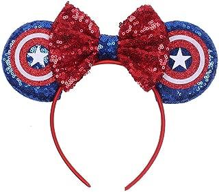 Love Fairy Lovely Cartoon Mouse Ears Headband Bowknot Hair Hoop for Travel Party Festivals