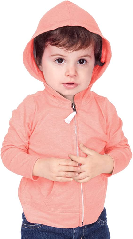 Kavio! Unisex Infants Jersey Long Sleeve Zip Up Hoodie
