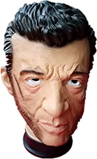 PWB Halloween Marvel Heroes Role Playing Latex Headgear Horror Mask Wig Decoration Props Masquerade Carnival Gifts Dance Music Festival etc-Wolverine