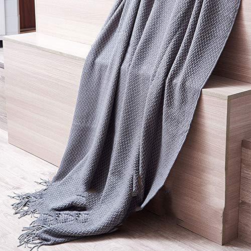 Grijze imitatie kasjmier bank deken/sjaal/Bed staartdeken/imitatie kasjmier deken en gooien/Bay Window deken/tapijt, Geschikt voor het leren|Slaapkamer|Sofa|Kerstmis