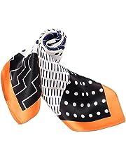 ANDANTINO レディース 100% 絹 ネッカチーフ 小型 正方形 お洒落 シルク 男女兼用 軽やかな スカーフ 通気性に優れる スカーフ デジタル 染 ヘッド スカーフ・柔らかい スカーフ 暖かい 冬季 両面色マフラー 肩掛け