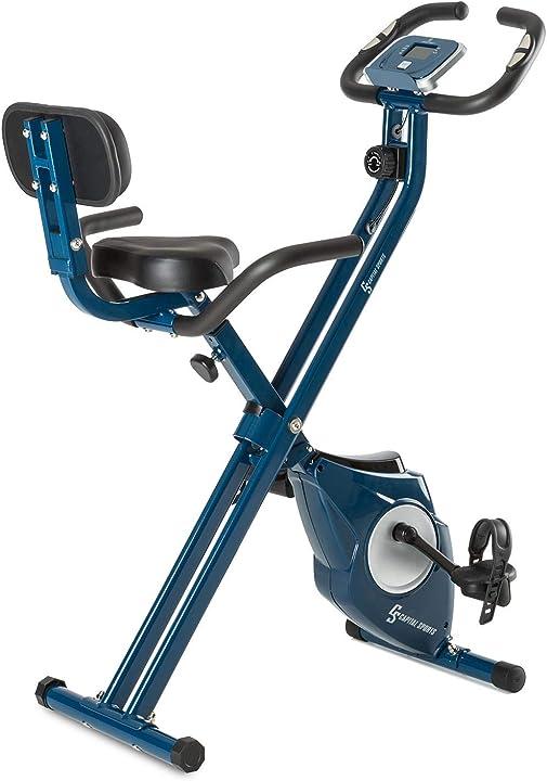 Cyclette,cardio-bike, training-computer,resistenza regolabile 8 stadi, regolatore da polso, disply lcd klarfit B071RR67SJ