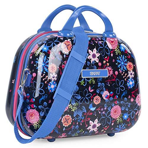 SKPAT - Grote stijve reistas voor kinderen met bedrukt polycarbonaat. WC koffer. Comfortabel en licht. Met spiegel 131535, Color Marine