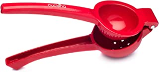 Cucisina Lemon Squeezer / Lime Juicer / Citrus Press - Commercial Grade Aluminum (Red)