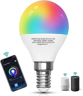 Aigostar - lampadina led smart G45 E14 attacco piccolo 5W, Funziona con Alexa e Google Home. Dimmerabile bianca 3000k - 65...