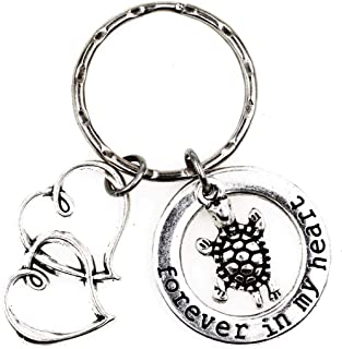 It's All About...You! Forever in My Heart Double Hearts Turtle Keychain 3V