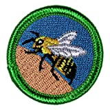 Bee Sting Novelty Merit Badge - 1.5' Embroidered Patch with Adhesive Backing