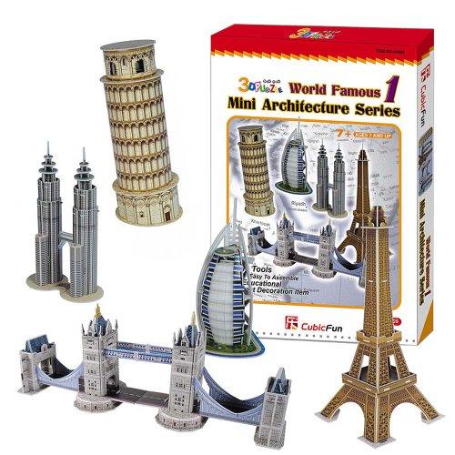 3D Puzzle - Mini World Architecture Series 1